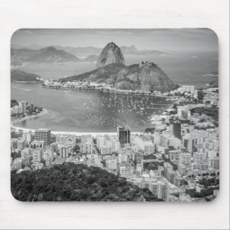 B&Wリオデジャネイロの空中写真 マウスパッド