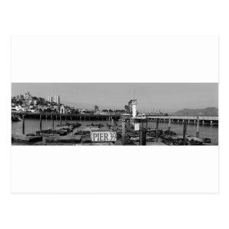 B&W桟橋39のアシカ ポストカード