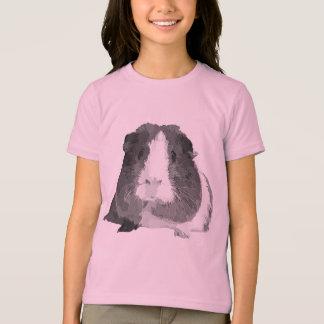 B&W 「ベティ」のモルモットの子供のTシャツ Tシャツ