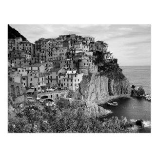 B&W Cinque Terre ポストカード