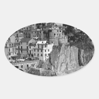 B&W Cinque Terre 楕円形シール