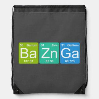 BaのZn Ga! 周期表の要素のドローストリングバッグ ナップサック
