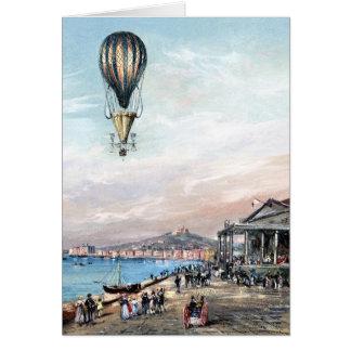 BA2304FAC01ZフランチェスコOrlandiのプロペラの気球 カード