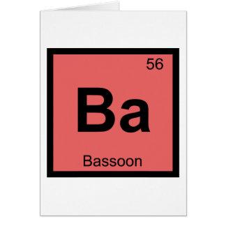Ba -バスーン音楽化学周期表 カード