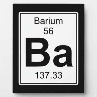 Ba -バリウム フォトプラーク