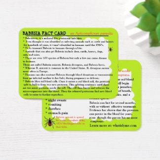 Babesiaの事実の教育カード 名刺