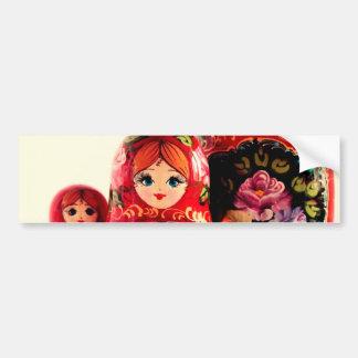 Babushkaのロシア人の人形 バンパーステッカー
