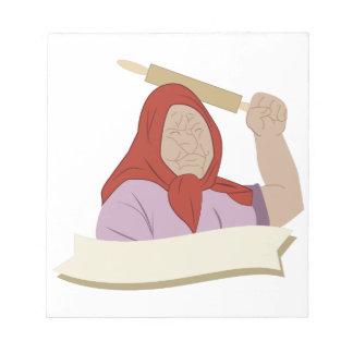 Babushkaの祖母 ノートパッド