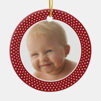 Babyの初めてのクリスマス-写真フレームのオーナメント セラミックオーナメント