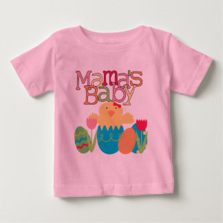 Babyママの-女の子のひよこのイースターTシャツおよびギフト ベビーTシャツ