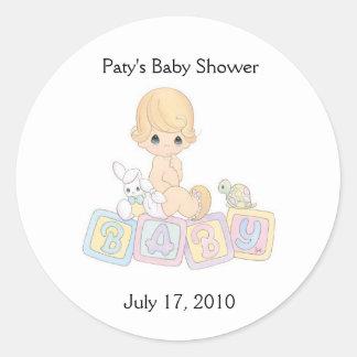 baby3da7のPatyのベビーシャワー、2010年7月17日 ラウンドシール