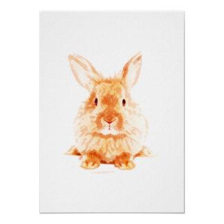 Baby Bunny Nursery Print on 5x7 Cardstock カード