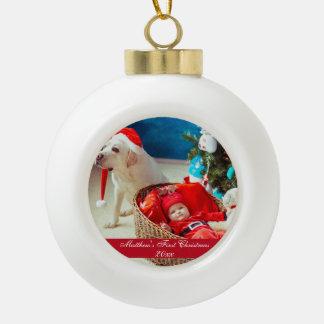 Baby First Christmas Ceramic Ornament セラミックボールオーナメント