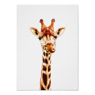 Baby Giraffe Nursery Print on 5x7 Cardstock カード