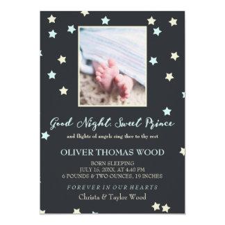 Baby Memorial Announcementおやすみなさいの甘い王子 カード