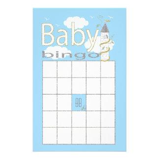 "Baby Shower BINGO ""Glittery Castle"" チラシ"