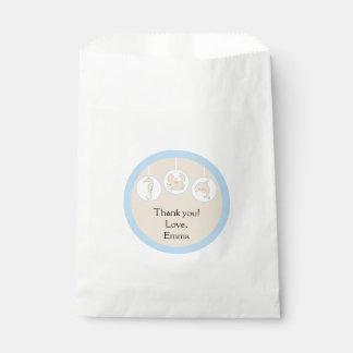 Baby Shower Favor Bag, Under the Sea, Cream/Blue フェイバーバッグ