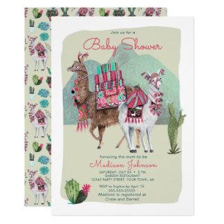 Baby Shower | Llamas & Cactus | Invitations カード