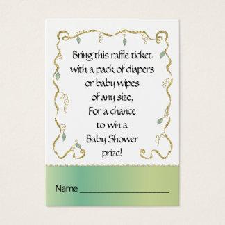 Baby Shower Raffle Ticket/Glittery Castle 名刺