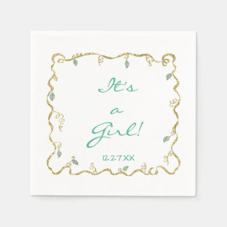 """Baby Shower Standard Napkin """"Glittery Castle"""" スタンダードカクテルナプキン"""