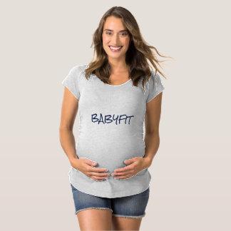 """""""BABYFIT""""の妊婦ので短いスリーブを付けられたワイシャツ マタニティTシャツ"""