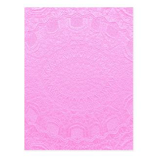 BabyPinkの絹の銀ぱくのエンボス ポストカード