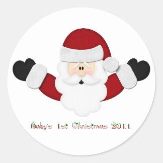 Babysの第1クリスマス2011年 ラウンドシール