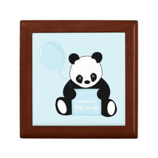 Babysの第1歯のパンダくまのカスタムな記念品箱 ギフトボックス