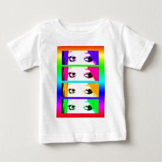 BabysのTシャツ-サイケデリックで明るい目 ベビーTシャツ