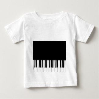 BabysのTシャツ-ピアノキーボードの白黒 ベビーTシャツ