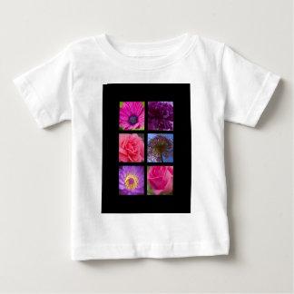 BabysのTシャツ-ピンクの紫色の花 ベビーTシャツ