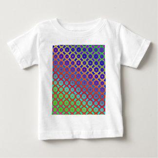 BabysのTシャツ-虹の曼荼羅のフラクタルパターン ベビーTシャツ