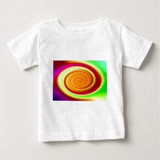 BabysのTシャツ-虹の渦巻の抽象芸術パターン ベビーTシャツ