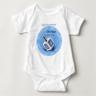 Babys最初Chanukkah Dreidel ベビーボディスーツ