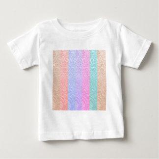 Babysoftスペクトル: 銀ぱくのエンボスのアートワーク ベビーTシャツ