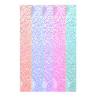 Babysoftスペクトル: 銀ぱくのエンボスのアートワーク 便箋