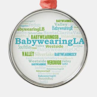 BabywearingのLAのハートのロゴ メタルオーナメント