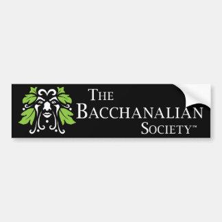 Bacchanalian社会のバンパーステッカー バンパーステッカー