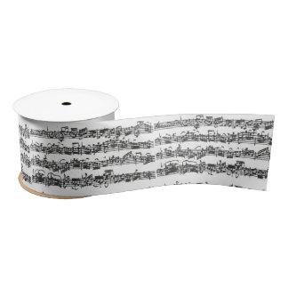 Bachのチェロの続きの音楽原稿 サテンリボン