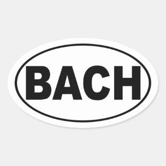 Bachのバンパーステッカー 卵形シール・ステッカー