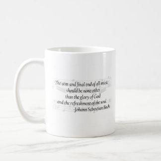 Bachの引用文のマグ コーヒーマグカップ