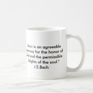 Bachの引用文 コーヒーマグカップ