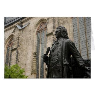 Bachの彫像 グリーティングカード