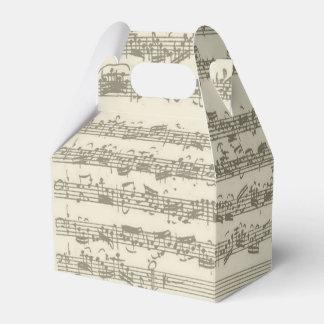 Bachの第2チェロの続きの音楽原稿 フェイバーボックス