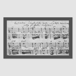 Bachの装飾の説明 長方形シール