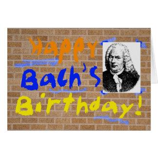 Bachの誕生日 カード