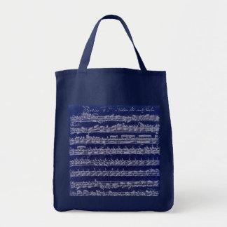 Bachの青Partita トートバッグ