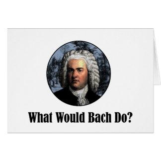 Bachは何をしますか。 カード
