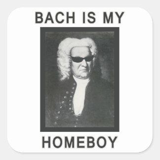 Bachは私の同郷人です スクエアシール