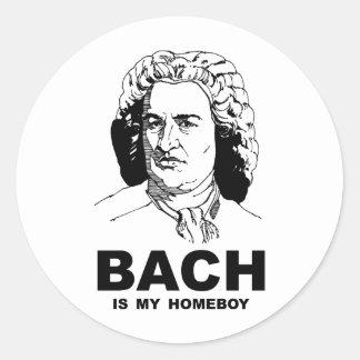 Bachは私の同郷人です 丸形シールステッカー